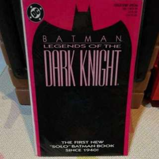 DC Comics Batman Legends Of The Dark Knight 1989!