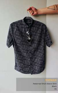 Topman Patterned Short Sleeve Shirt