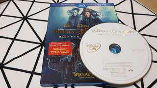 BN USA Original Pirates of the Caribbean Dead Men Tell No Tales DVD only