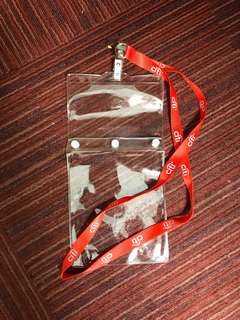 Lanyard with plastic holders