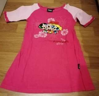 Cartoon Network kid Powerpuff girl dress with sleeves