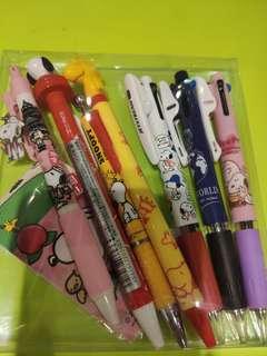 Snoopy原子筆,原芯筆,三色筆