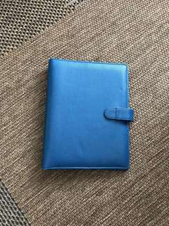 6 Ring Agenda / Planner (Navy Blue Leather)