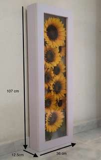 Artificial Sun Flower with display box