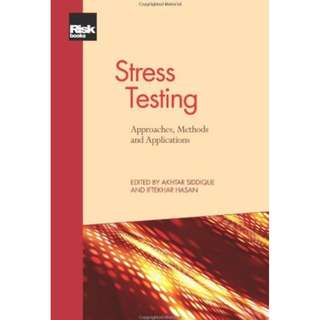 Other editions Enlarge cover  Want to Read  Rate this book 1 of 5 stars2 of 5 stars3 of 5 stars4 of 5 stars5 of 5 stars Stress Testing: Approaches, Methods and Applications