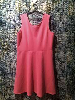 SALE- Plus Size Baby Pink Dress