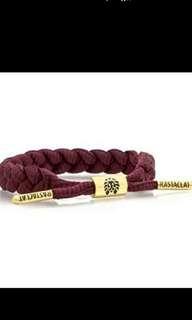 酒紅色Rastaclat手绳