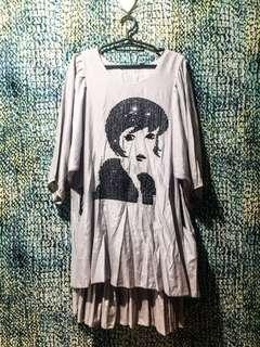 SALE- Plus Size Grey Dress