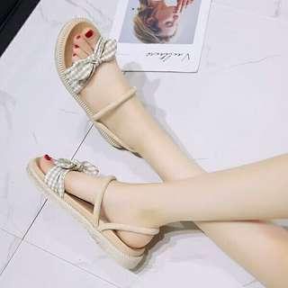 summer ribbon sandals shoes