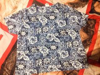 SALE- Plus Size Summer Floral Shirt