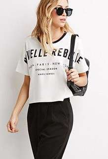 Contemporary Nouvelle Rebelle Crop Top