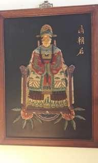 Pair of Emperor Empress portraits