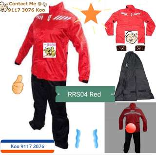 1606*** Givi Raincoat RRS04 Black & Red 🤣🤣Thanks To All My Buyer Support 👌👌