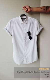 Topman Short Sleeve Shirt with Festival Detail