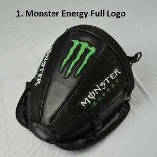 Monster Energy Tail Seat Storage Bag Motorcycle Motorbike