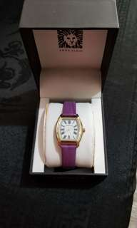 Anne Klein leather strap watch
