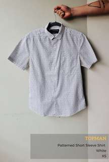 Topman Patterned Short Sleeve Shirt - Slim Fit