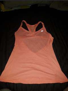 Lorna Jane Orange Singlet - Size Small