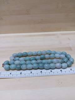 緬甸a玉 48 粒8乘15 mm蛋形 路路通珠串 28吋