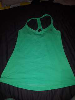 Lorna Jane Green Singlet - Size Small