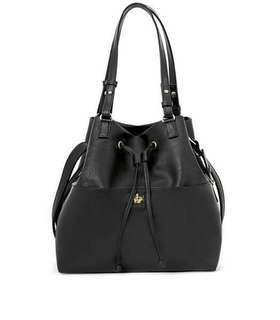 Black PVC bowler Bag