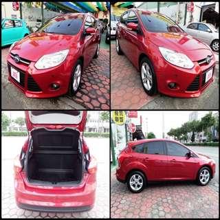 2014 福特 佛卡斯 1.6    火紅 FORD  FOCUS  時尚型版