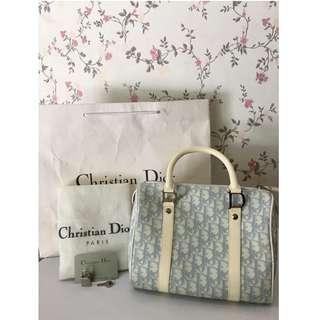 Authentic Dior Diorissimo Boston Bag Complete Set