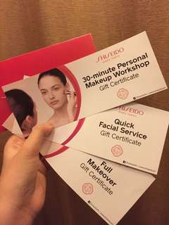 Shiseido Make Up & Skin Care Voucher