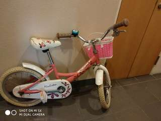 Girls bicycle,  kids bicycle,  14''
