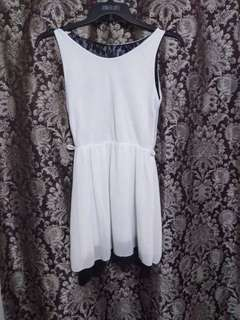 White Plain Lace Dress