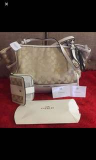 Original coach bag and wallet