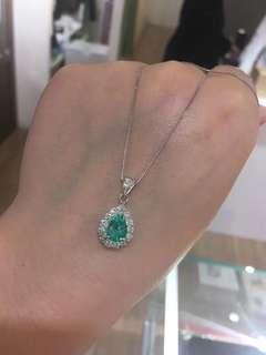 祖母绿钻石💎项链