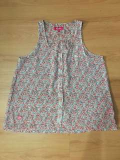 Candie's Pink Floral Blouse