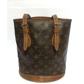 Preloved Authentic Louis Vuitton Bucket Bag Monogram Canvas GM (Reduced Price)