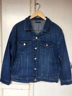 MANGO Dark Blue Denim Jacket