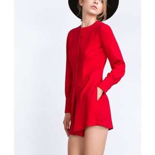 Zara woman red romper