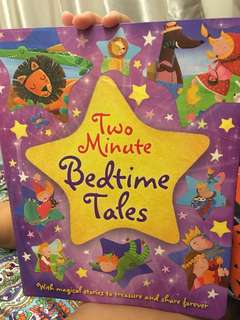 Bed time story book. Short 2minute stories