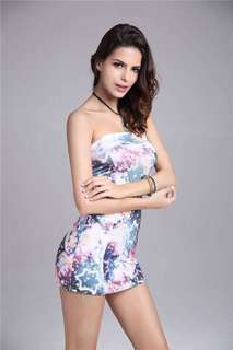 Explosion models sexy fashion temperament skirt wrapped chest back dress beach skirt