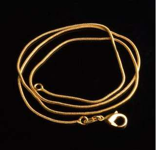 Gold or silver snake chain necklace