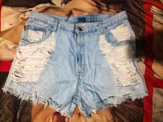 PLUS SIZE Highwaist short
