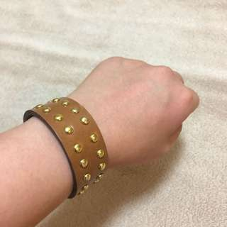 Leather Studded Cuff