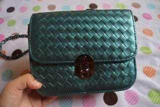 Sling Bag Metallic Green/Blue