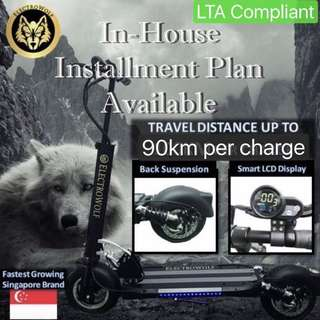 LTA Compliant Electric Scooter - In house cash installment available