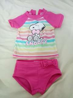Baby Girl Snoopy pink Swimsuit/swimming suit/
