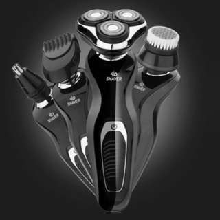 (991)4D Full-Body Washable Rotary Shaver Rechargeable Electric Beard Shave Machine