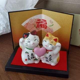 Yakushigama #7351 Fortune cat/ Lucky cat/ Zhao cai mao display