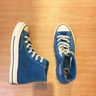 Converse 1970 孔雀藍 麂皮