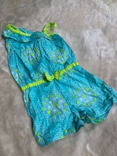 Teal Green Kids Romper