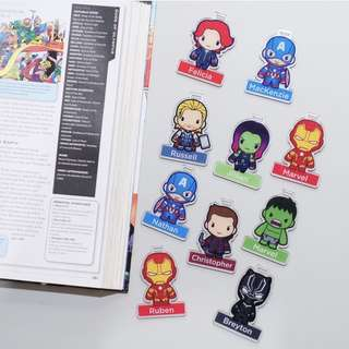 CUSTOM BAGTAG avengers superheroes