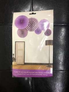 Party Fans Decor (Purple)